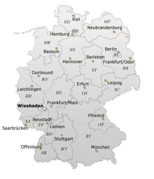 DSB-Deutschlandkarte