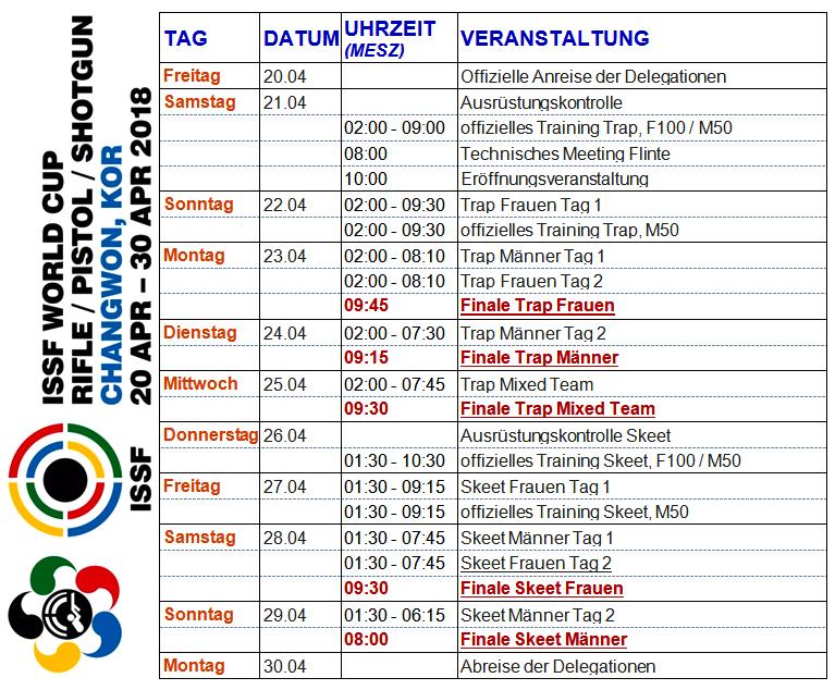 Weltcup Korea – Zeitplan und mehr…