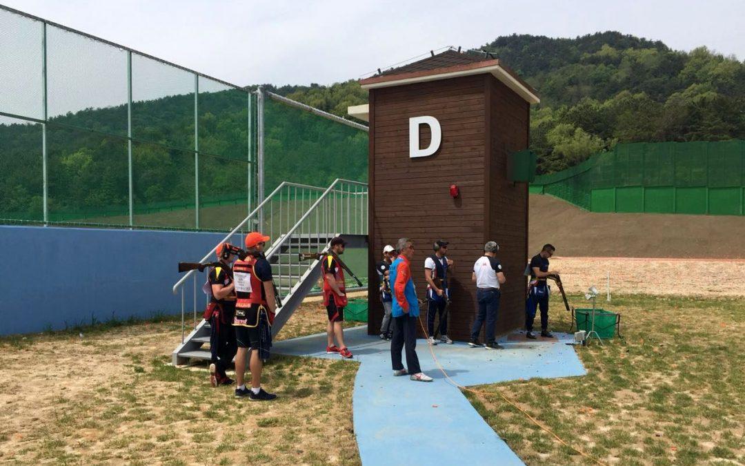 Erster Wettkampftag Skeet in Korea