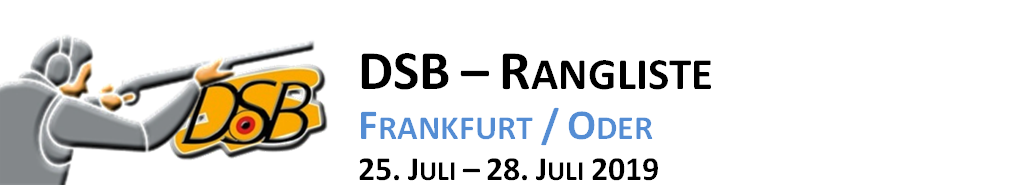 Teilnehmerliste 2. DSB Rangliste 2019